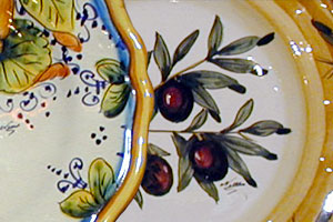 The Art Gallery: Plates Sets - Hand painted, hand decorated Italian, Tuscan Florentine ceramics