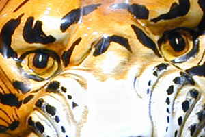 The Art Gallery: Wild Animals - Hand painted, hand decorated Italian, Tuscan Florentine ceramics