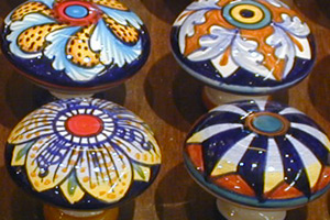 The Art Gallery: Ceramics Knobs - Hand painted, hand decorated Italian, Tuscan Florentine ceramics