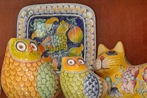The Art Gallery:  - Hand painted, hand decorated Italian, Tuscan Florentine ceramics